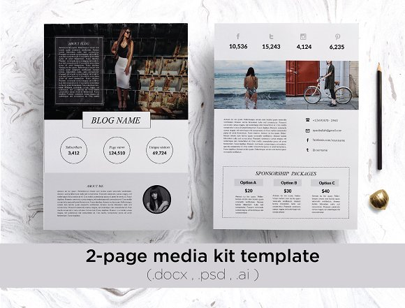 What is a Blogger Media kit? And why do you need one? - Our Creative ...