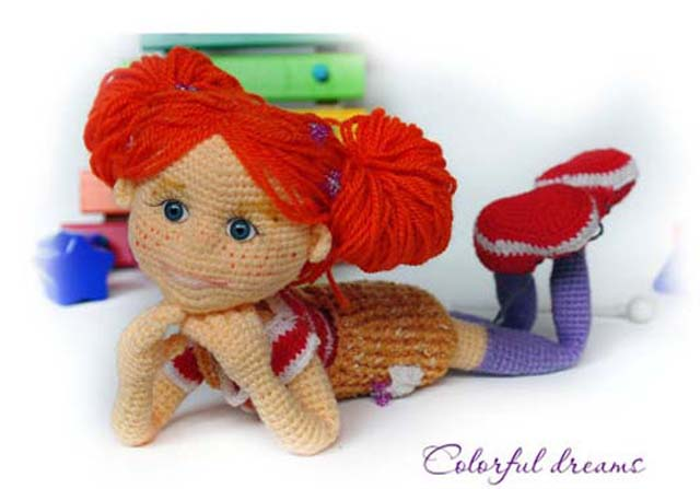 Crochet pattern cute doll
