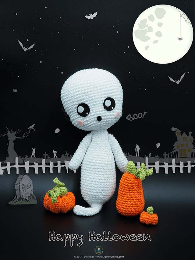 Free english crochet pattern ghost boo