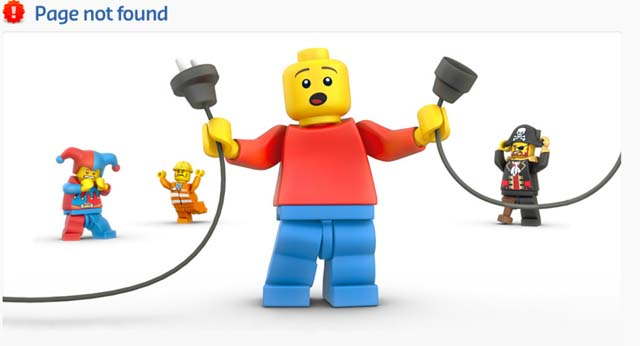 Lego cool 404 error page image