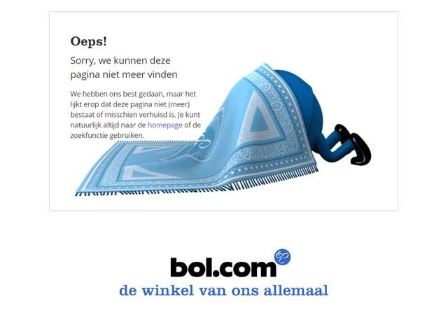 Voorbeeld leuke 404 pagina