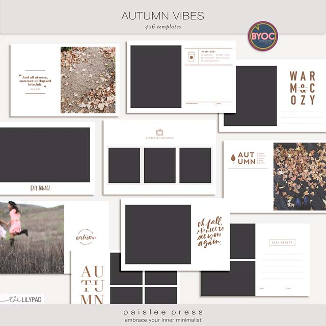Paislee Press autumn scrapbooking and project life