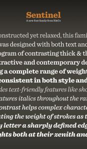 Sentinel font