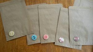 Use little kraft bags for my diy advent calendar