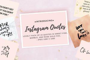 Instagram quote pack