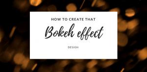 Bokeh effect, light effect christmas