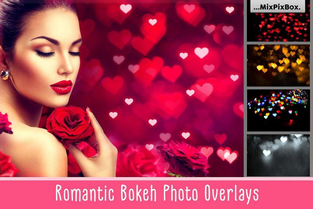 Romantic Bokeh Photo Overlay