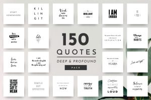 Deep Quotes - 150 Quotes Pack