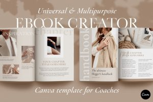 eBook Template for Canva | Workbook Template for Canva | Course Creator | Online Course | Worksheet Checklist Challenge Lead Magnet Webinar